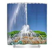 Buckingham Fountain Spray Shower Curtain