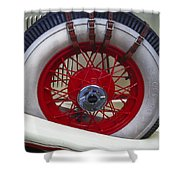Buckled Wheel Shower Curtain