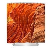 Buckskin Fiery Orange Shower Curtain