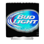 Bud Light Splash Shower Curtain