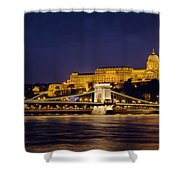 Buda Castle And Chain Bridge Shower Curtain