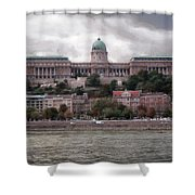 Buda Castle Facade Shower Curtain