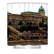 Buda Castle In Budapest Shower Curtain