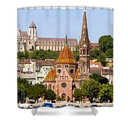 Buda Reformed Church In Budapest Shower Curtain