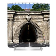 Buda Tunnel In Budapest Shower Curtain
