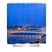 Budapest At Dusk Shower Curtain
