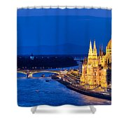 Budapest By Night Shower Curtain