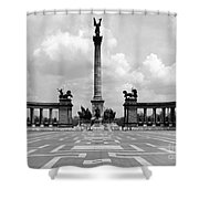 Budapest: Heroes Square Shower Curtain
