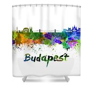 Budapest Skyline In Watercolor Shower Curtain