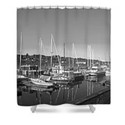 Budd Inlet Olympia Wa B W Shower Curtain