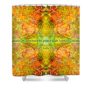 Budda Quote On Life Shower Curtain