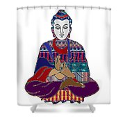Buddha In Meditation Buddhism Master Teacher Spiritual Guru By Navinjoshi At Fineartamerica.com Shower Curtain