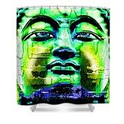 Buddha Shower Curtain by Daniel Janda