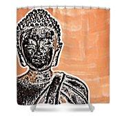 Buddha Face Shower Curtain