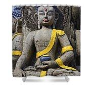 Buddha Figure In Kathmandu Nepal Shower Curtain