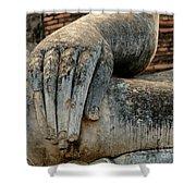 Buddha Hand Thailand Shower Curtain