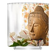Buddha Head Shower Curtain