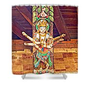 Buddha Image In Patan Durbar Square In Lalitpur-nepal   Shower Curtain