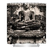Buddha In Meditation Statue Shower Curtain