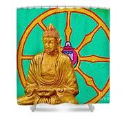 Buddha In The Grove Shower Curtain