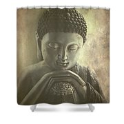 Buddha Shower Curtain by Madeleine Forsberg
