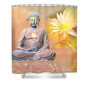 Buddha Of Compassion Shower Curtain