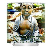 Buddha Quotes Shower Curtain
