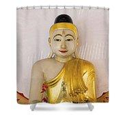 Buddha Statue In Thailand Temple Altar Shower Curtain