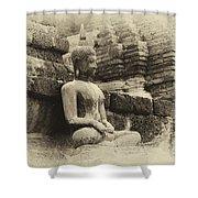 Buddha Sukhothai Thailand 5 Shower Curtain