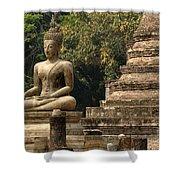 Buddha Sukhothai Thailand 6 Shower Curtain