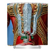 Buddha Trident Sword Shower Curtain