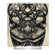 Buddha Vase Shower Curtain
