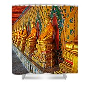 Buddhas At Wat Arun, Bangkok Shower Curtain