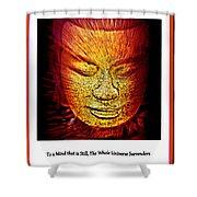 Buddhas Mind IIi Shower Curtain