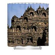 Buddhas Of Borobudur Shower Curtain