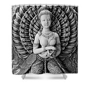 Buddhist Carving 02 Shower Curtain