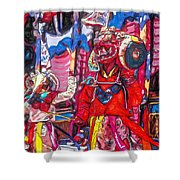 Buddhist Dancers 2 Shower Curtain