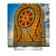 Buddhist Icon Shower Curtain by Adrian Evans