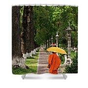 Buddhist Monk 01 Shower Curtain