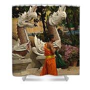 Buddhist Monk Thailand 3 Shower Curtain