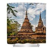 Buddhist Park Shower Curtain