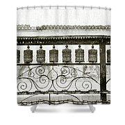 Buddhist Prayer Wheels Shower Curtain