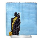 Buddhist Statue Shower Curtain