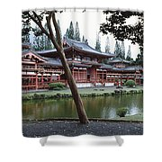 Buddhist Temple, Byodo-in Temple Shower Curtain