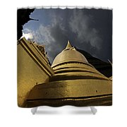 Buddhist Temple In Bangkok Thailand Buddhism  Shower Curtain