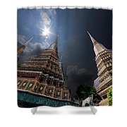 Buddhist Temple In Bangkok Thailand Buddhism Wat Phra Keo Shower Curtain