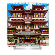Buddhist Temple In Singapore Shower Curtain