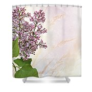 Budding Lilac Flowers Shower Curtain