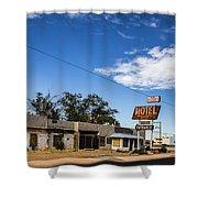 Budget Motel Shower Curtain