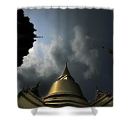 Budhist Temple In Bangkok Thailand Shower Curtain